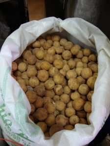 Dried whole limes at the Dubai Spice Souk